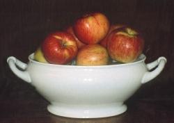 Gravensteiner, fonte: P. Odorizzi, S. Abram: Profumi e sapori perduti - Il fascino della frutta antica Vol. I (2001)
