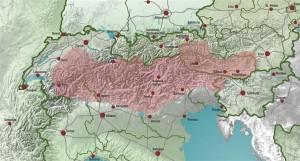 Frühere Verbreitung der Schwarzen Alpenschweine
